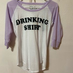Chaser 'Drinking Shirt' Sz S NWT